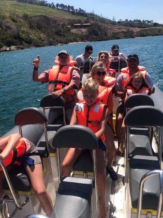 Knysna RIB Adventures: Preparing to exit the lagoon