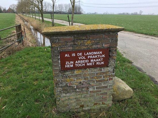 Pieterburen, Holandia: Mooie spreuk op de route