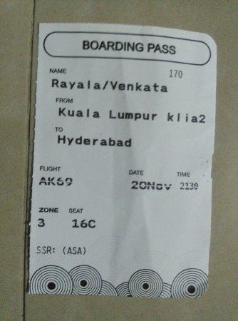Boarding Pass Picture Of Airasia Airasia Berhad Malaysia