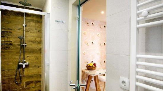 Mirthios, Grèce : Luxurious bathroom/WC of the apartments