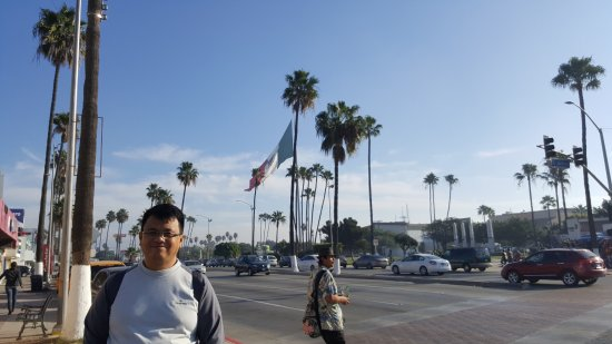 Me And Mexico S Flag Picture Of Plaza Civica Ensenada