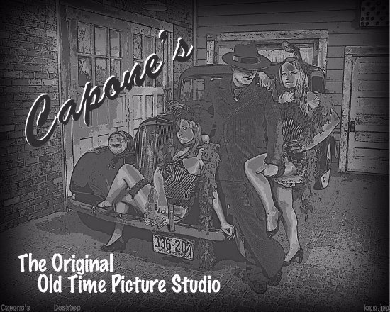 Wisconsin Dells, WI: Capone's Original Old Time Photo Studio (we have REAL stages)