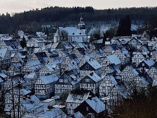 Freudenberg, Tyskland: Зимний пейзаж...