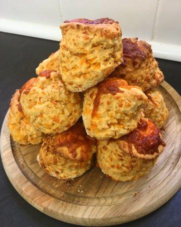 Craster, UK: Cheese Scones