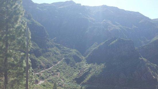 Las Palmas de Gran Canaria, España: Startpunkten för vandringsleden upp till Iglesia de El Hornillo. 1000 Höjd meter på 8 kilometer!