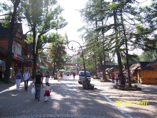 Hotel Sabala: The street of retail behind the Sabala Hotel.