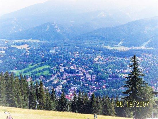 Hotel Sabala: View of Zakopane from the hill.