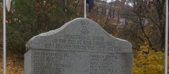 Galena, IL: inscription at the top of the Vietnam memorial stone