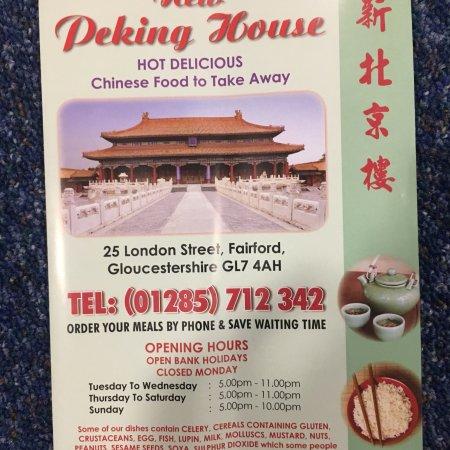 Fairford, UK: New Peking House