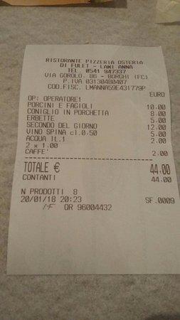 Borghi, Włochy: Ristorante Di Fulet