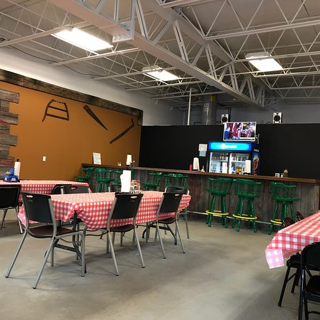 Brillion, WI: Yummy brisket sandwich meal in new dining room!