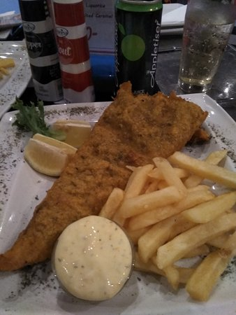 Storms River, South Africa: fish and fries
