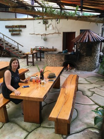 San Vito, Costa Rica: The famous wood fired oven and smoker!