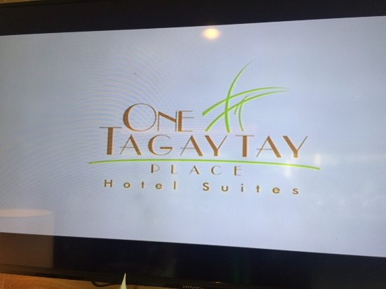 One Tagaytay Place Hotel Suites : LED TV Lobby