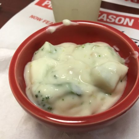 Cedar Springs, MI: Salad bar and cream of broccoli soup