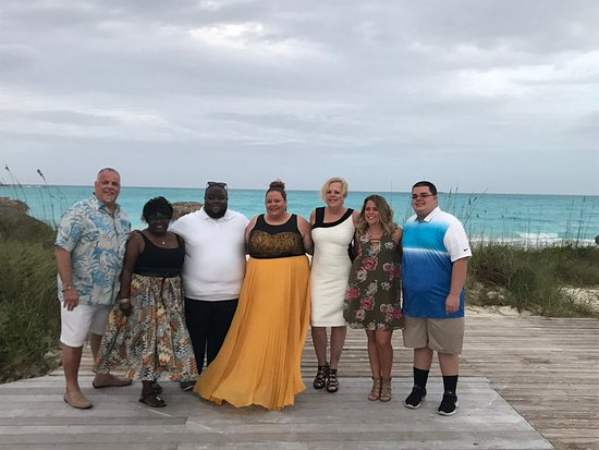 Sandals Emerald Bay Golf Tennis And Spa Resort Family At Rehearsal