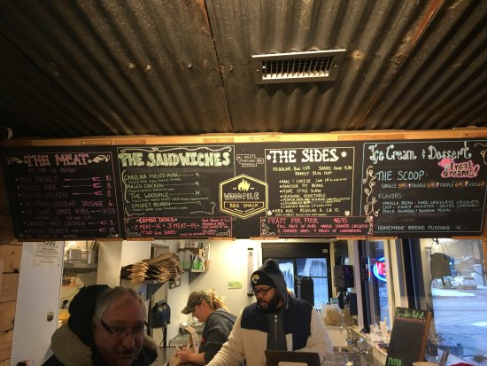 """The """"carry out - to go"""" counter at the Woodpile in Clawson, MI. (248) 565-8149 Friendly service!"""