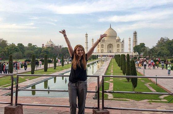 Taj Mahal Agra tur med tog
