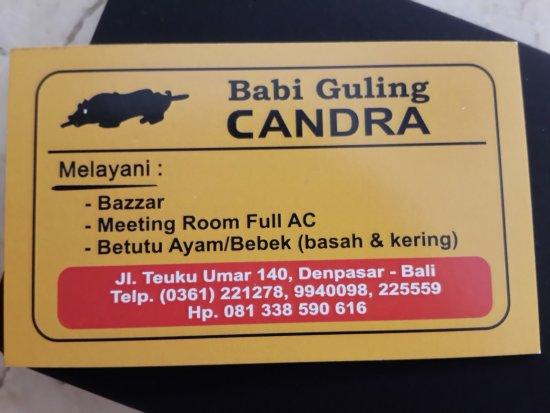 Babi Guling Chandra: Name Card