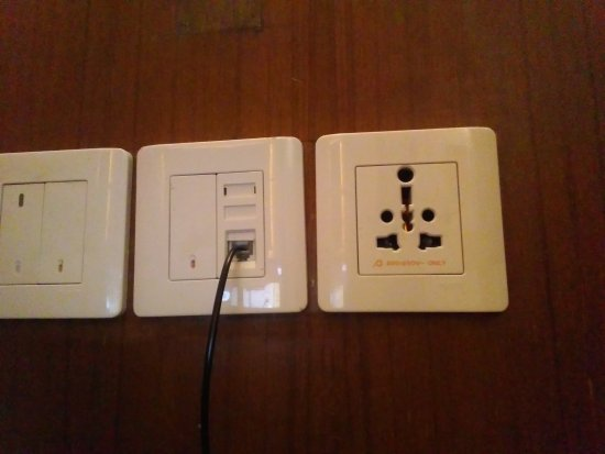 Imperium Resort: Universal socket is an absolute delight. Accepts any kind of plug.