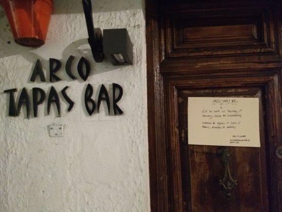 ARCO TAPAS BAR : Closed until Feb 1st, 2018.