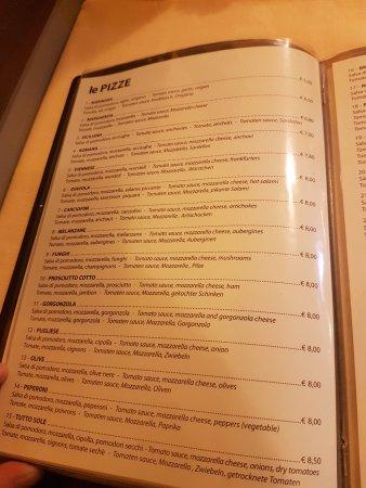 Pizzeria Trattoria all'Anfora : menu