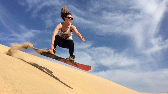 Original Morocco Tours: Sand boarding in Merzouga dunes