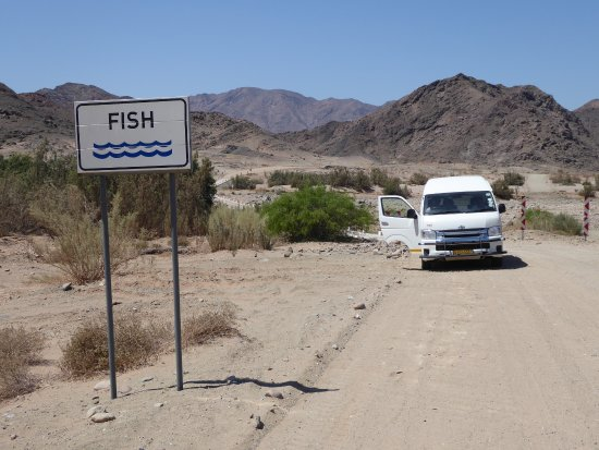 Karas Region, Namibia: C13 Road Crossing where Fish River joins Orange River