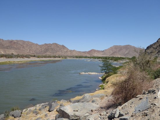 Karas Region, Namibia: Orange River with South Africa on opposite side