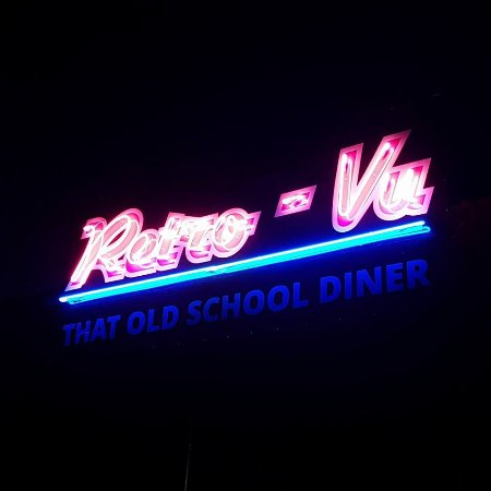 Aliwal North, South Africa: Neon lighting signage, verry Retro!