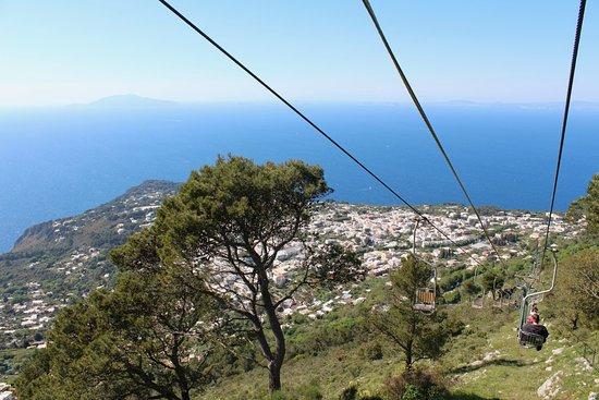 Mount Solaro: view from the seggiovia (chairlift) decending back to Anacapri