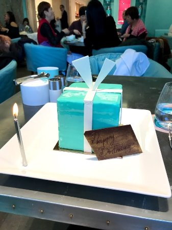 Sensational My Birthday Cake Picture Of The Blue Box Cafe New York City Funny Birthday Cards Online Alyptdamsfinfo