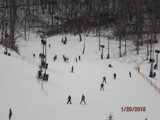 Lawrenceburg, IN: Skiers on the mountain
