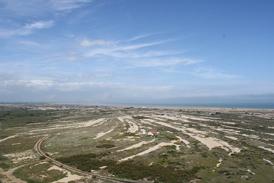 Dungeness, UK: View from the top looking towards New Romney.