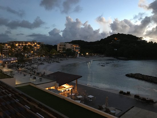 Cap Estate, Saint Lucia: our room view at night