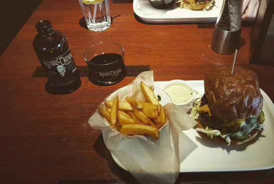 Royal Coce a American dream Burger - Picture of Blackdog Bar & Grill ...
