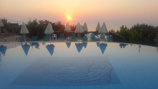 Sunrise at livadaki village hotel