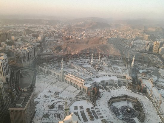 Makkah Clock Royal Tower, A Fairmont Hotel: View from 58 floor suite