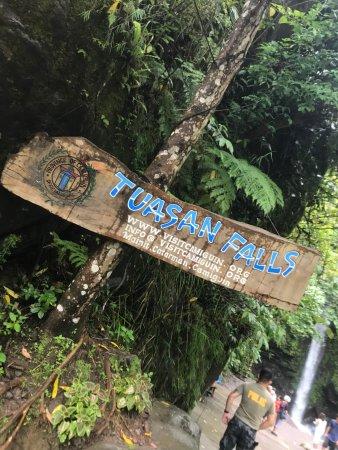 Tuasan Falls: 3 sign