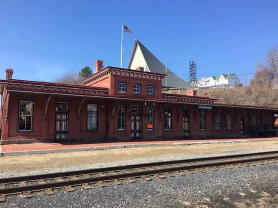 The beautifully restored 1874 passenger Depot. Home of Tamaqua Station Restaurant