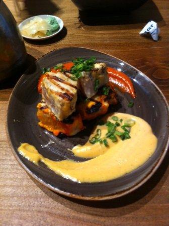 Mikuni Japanese Restaurant And Sushi Bar: BBQ Albacore Tuna appetizer, M-F 2:00-6:00PM