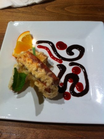 Mikuni Japanese Restaurant And Sushi Bar: Birthday special, deep fried pound cake with ice cream inside