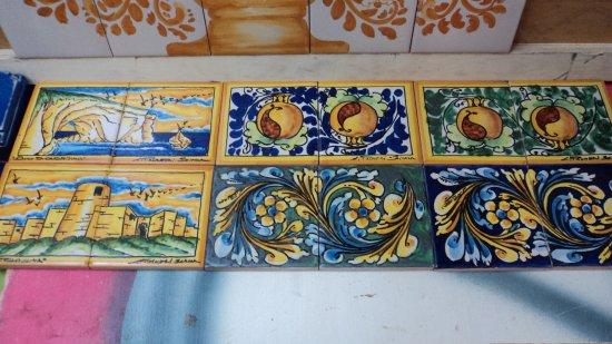 Pannelli assortiti ceramiche artistiche liborio pameri