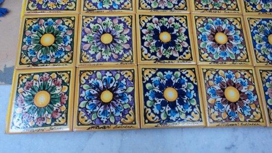 Maiolica piastrelle set piastrelle adesive effetto for Maioliche adesive