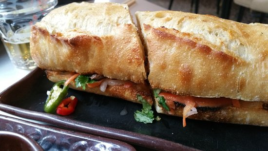 Myers + Chang: bahn mi with rib (best one)