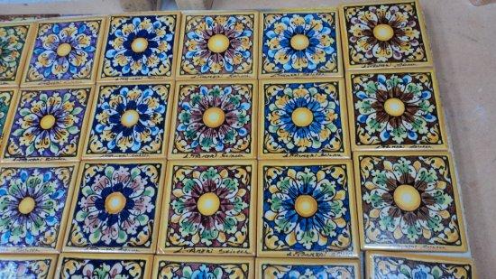 Piastrelle maiolica palermo mattonelle antiche siciliane