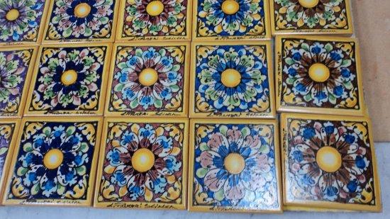 Piastrelle fiore assortite ceramiche artistiche liborio