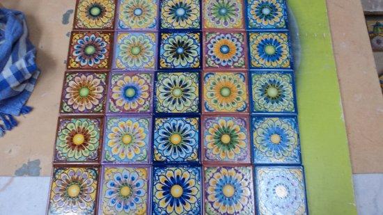 Piastrelle fiore assortite 10 x 10 ceramiche artistiche liborio