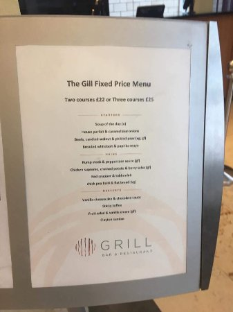 Clayton Hotel Manchester Airport: The Gill Grill