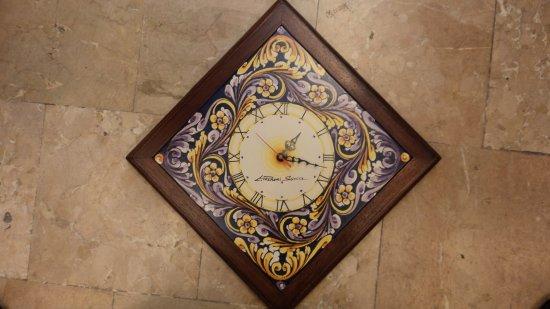 Piastrelle orologi con supporto ceramiche artistiche liborio